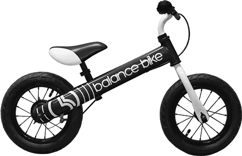 black kids metal balance bike