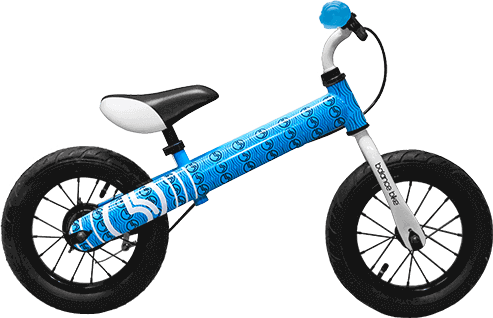 blue kids metal balance bike