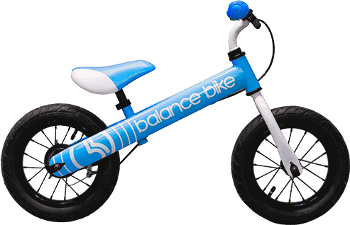 blue logo kids metal balance bike