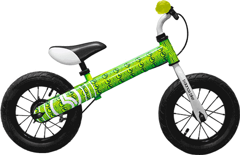 green kids metal balance bike