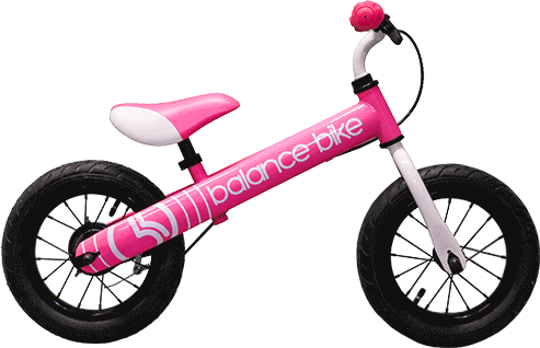 pink kids metal balance bike
